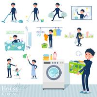 flat type school boy gakuran_housekeeping