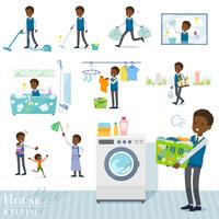 flat type school boy black_housekeeping