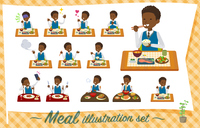flat type school boy black_Meal