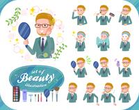 flat type blond hair businessman_beauty