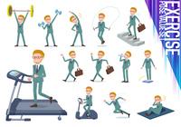 flat type blond hair businessman_exercise