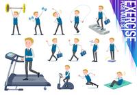 flat type school boy White_exercise