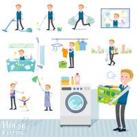 flat type school boy White_housekeeping