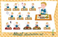 flat type school boy White_Meal