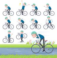 flat type school boy White_road bike