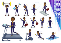 flat type Short hair businessman black_exercise