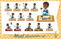 flat type school boy black_Meal