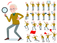 flat type Yellow knit old man White_Action