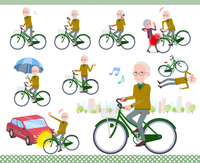 flat type Yellow knit old man White_city cycle
