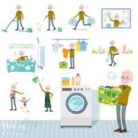 flat type Yellow knit old man White_housekeeping