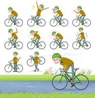 flat type Yellow knit old man White_road bike