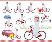 flat type Arab men_city cycle