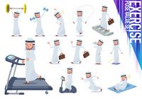 flat type Arab men_exercise