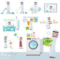 flat type Arab men_housekeeping
