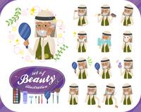 flat type Arab old men_beauty