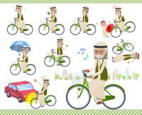 flat type Arab old men_city cycle