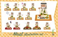 flat type Arab old men_Meal