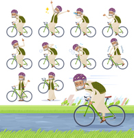 flat type Arab old men_road bike