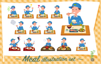 flat type Delivery men_Meal