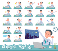 flat type Doctor old man_desk work