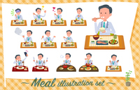 flat type Doctor old man_Meal