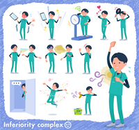 flat type surgical doctor men_complex