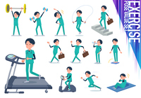 flat type surgical doctor men_exercise