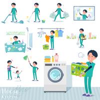flat type surgical doctor men_housekeeping