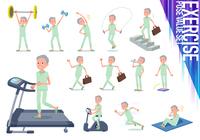 flat type patient old men_exercise