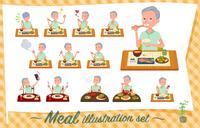flat type patient old men_Meal