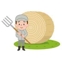 酪農家 牧草ロール