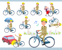 flat type helmet worker men_city cycle
