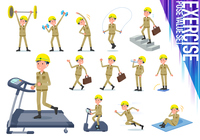 flat type helmet worker men_exercise