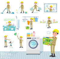 flat type helmet worker men_housekeeping