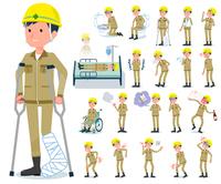 flat type helmet worker men_sickness