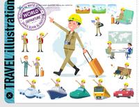 flat type helmet worker men_travel