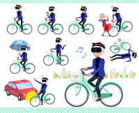 flat type VR goggle men_city cycle