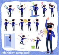 flat type VR goggle men_complex