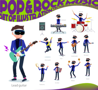 flat type VR goggle men_pop music