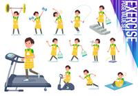 flat type Childminder men_exercise
