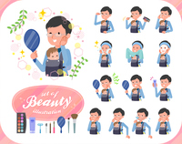 flat type Dad and baby_beauty