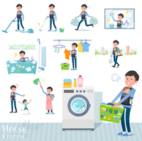 flat type Dad and baby_housekeeping