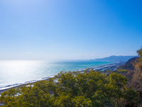 久能山から望む駿河湾