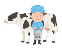 酪農家 ホルスタイン 乳牛