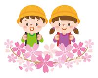 小学生 桜 入学