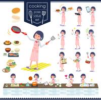 flat type Call center women_cooking