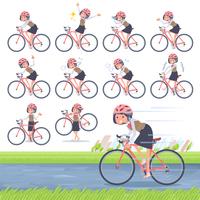 flat type Call center women_road bike