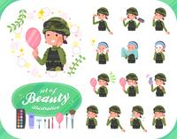 flat type military wear women_beauty