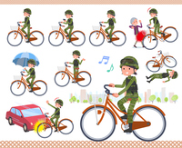 flat type military wear women_city cycle