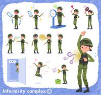 flat type military wear women_complex